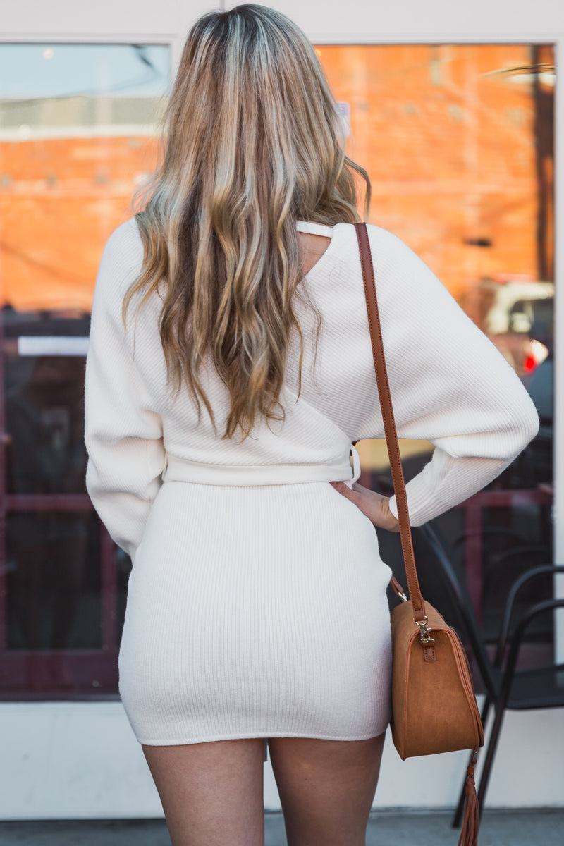 Emma Sweater Dress Ivory