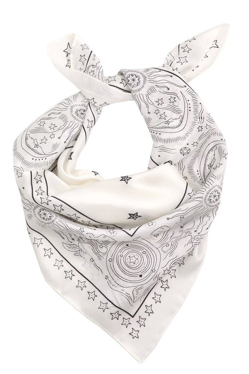 Midnight Star Handkerchief Ivory