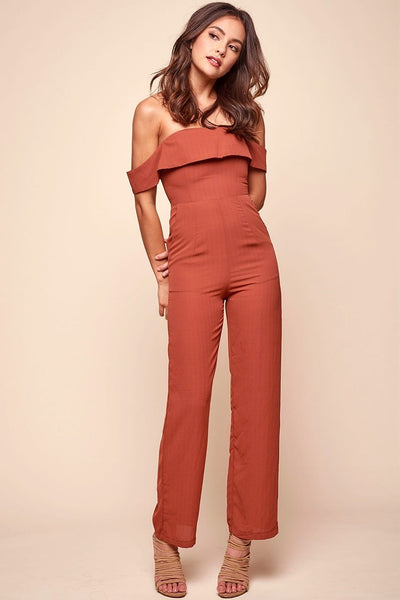 Heidi Jumpsuit Rust
