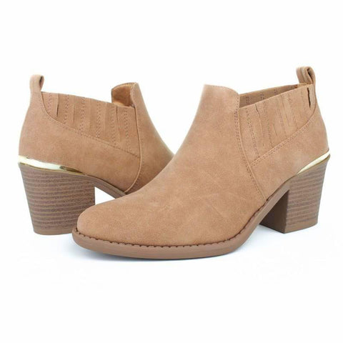 Almond Ankle Bootie Tan