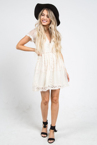 Chloe Cocktail Dress Cream