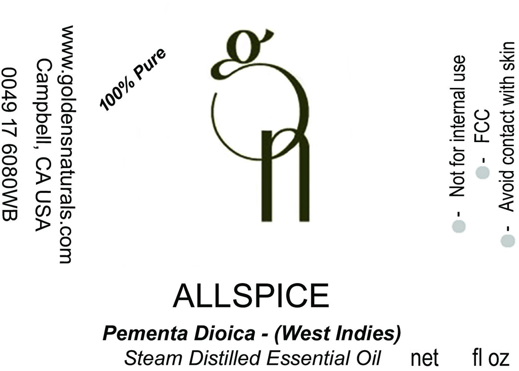 Allspice Essential Oil - Wholesale/Bulk, Essential Oils, Golden's Naturals - Golden's Naturals = quality essential oils at affordable prices