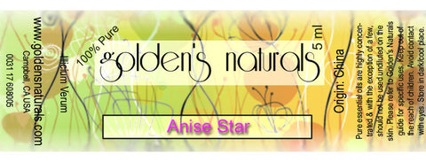 Anise Star Essential oil, Essential Oils, Golden's Naturals - Golden's Naturals = quality essential oils at affordable prices
