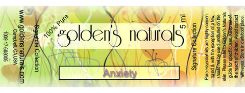 Anxiety Essential Oil Blend, Essential Oils, Golden's Naturals - Golden's Naturals = quality essential oils at affordable prices