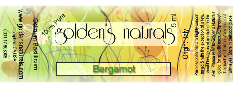 Bergamot Essential Oil, Essential Oils, Golden's Naturals - Golden's Naturals = quality essential oils at affordable prices