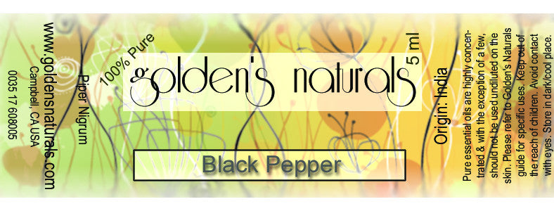 Black Pepper Essential Oil, Essential Oils, Golden's Naturals - Golden's Naturals = quality essential oils at affordable prices