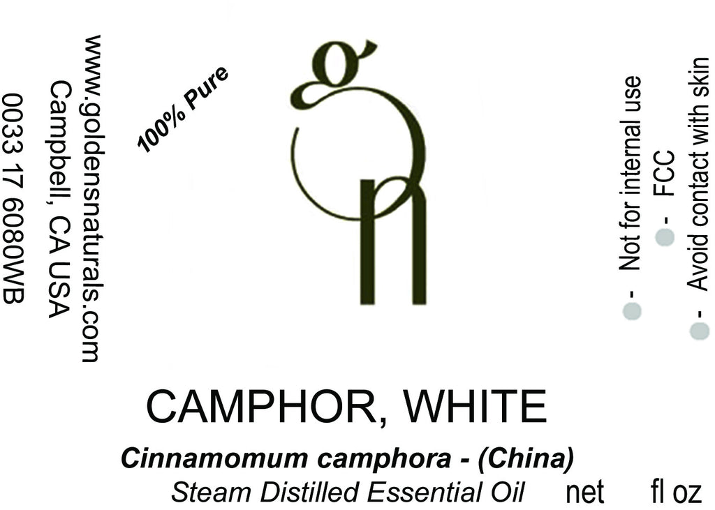 Camphor, White Essential Oil - Wholesale/Bulk, Essential Oils, Golden's Naturals - Golden's Naturals = quality essential oils at affordable prices