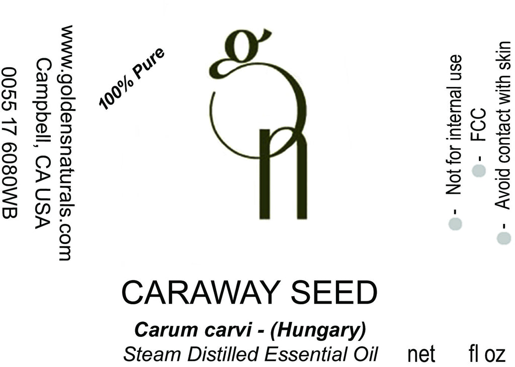Caraway Seed Essential Oil - Wholesale/Bulk, Essential Oils, Golden's Naturals - Golden's Naturals = quality essential oils at affordable prices