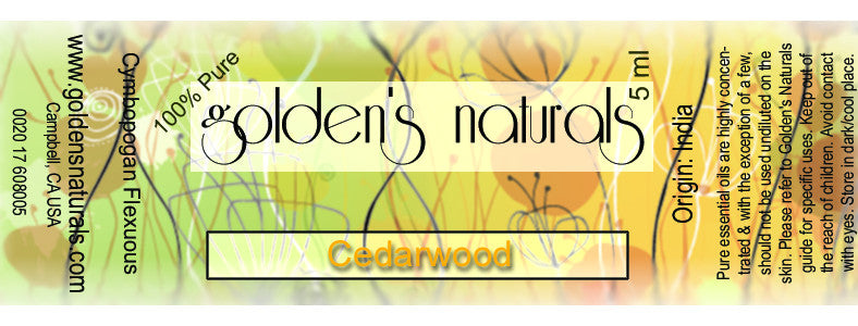 Cedarwood Essential Oil, Essential Oils, Golden's Naturals - Golden's Naturals = quality essential oils at affordable prices