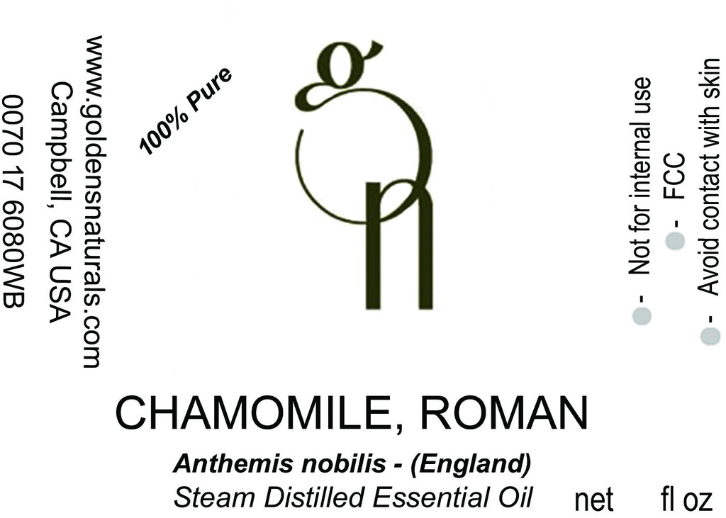 Chamomile Roman Essential Oil - Wholesale/Bulk, Essential Oils, Golden's Naturals - Golden's Naturals = quality essential oils at affordable prices