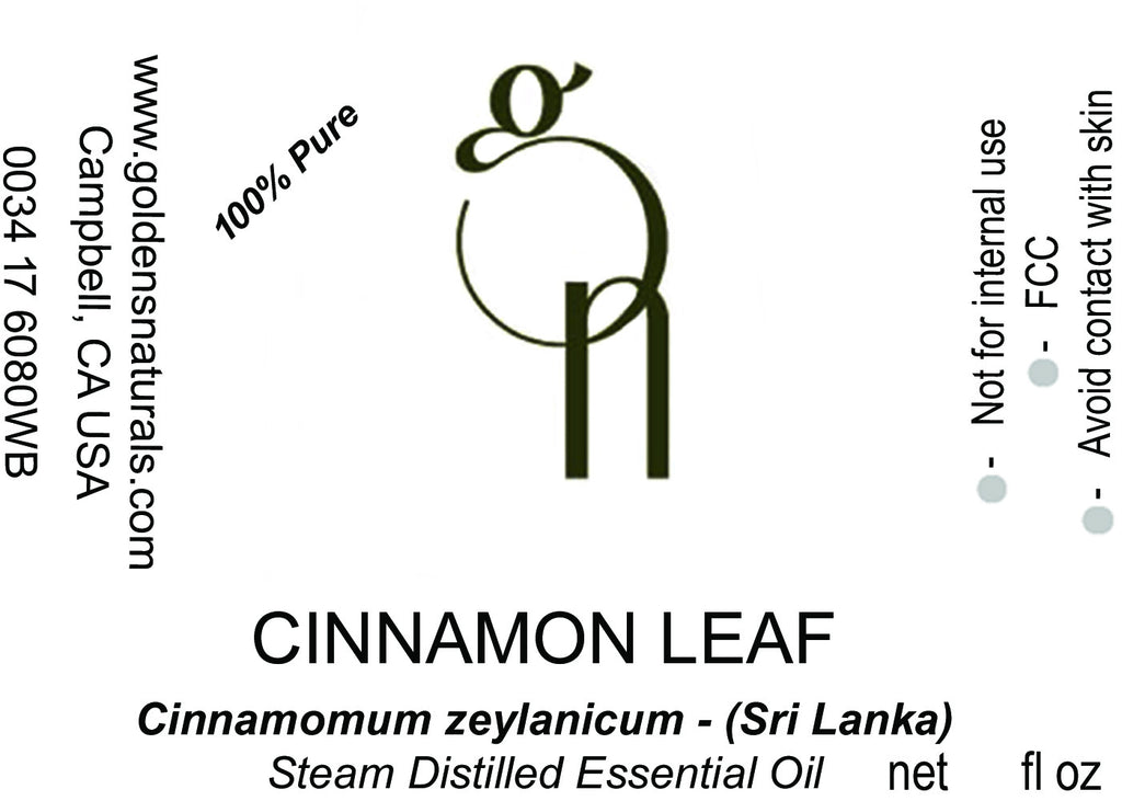 Cinnamon Leaf Essential Oil - Wholesale/Bulk, Essential Oils, Golden's Naturals - Golden's Naturals = quality essential oils at affordable prices