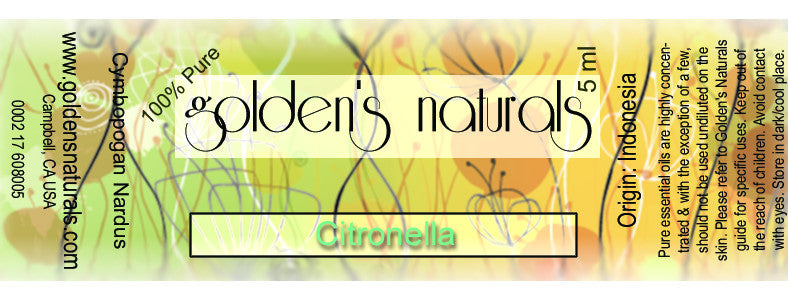 Citronella Essential Oil, Essential Oils, Golden's Naturals - Golden's Naturals = quality essential oils at affordable prices