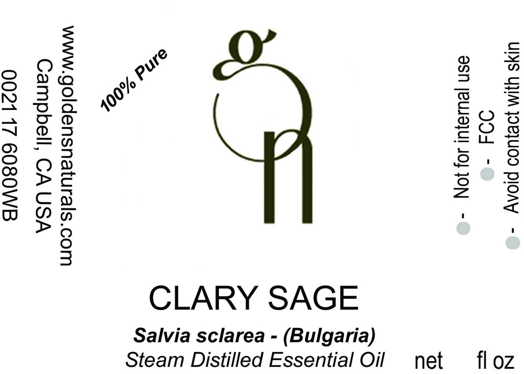 Clary Sage Essential Oil - Wholesale/Bulk, Essential Oils, Golden's Naturals - Golden's Naturals = quality essential oils at affordable prices