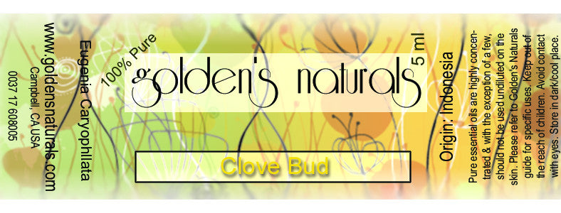 Clove Bud Essential Oil, Essential Oils, Golden's Naturals - Golden's Naturals = quality essential oils at affordable prices