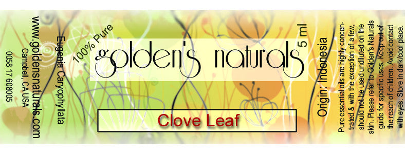 Clove Leaf Essential Oil, Essential Oils, Golden's Naturals - Golden's Naturals = quality essential oils at affordable prices