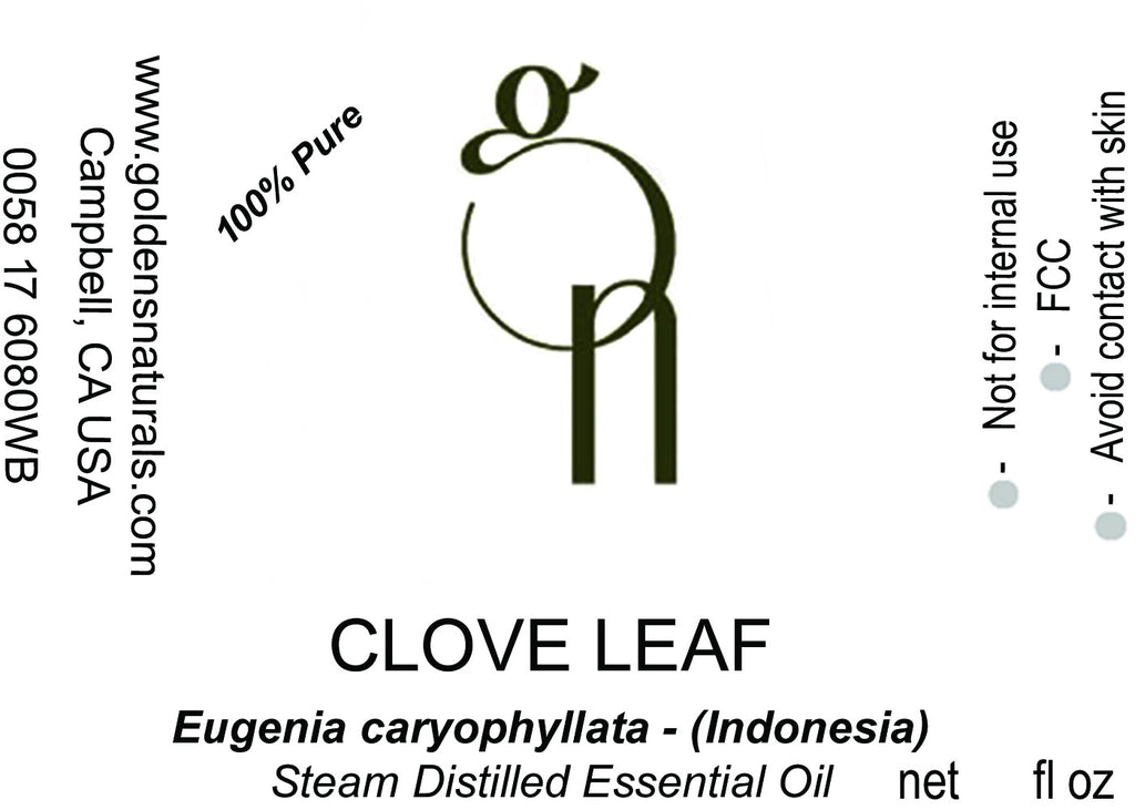Clove Leaf Essential Oil - Wholesale/Bulk, Essential Oils, Golden's Naturals - Golden's Naturals = quality essential oils at affordable prices