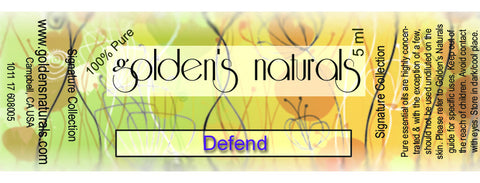 Defend Essential Oil Blend, Essential Oils, Golden's Naturals - Golden's Naturals = quality essential oils at affordable prices