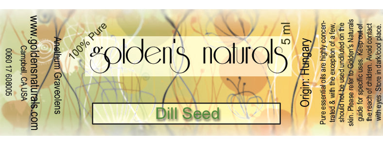 Dill Seed Essential Oil, Essential Oils, Golden's Naturals - Golden's Naturals = quality essential oils at affordable prices