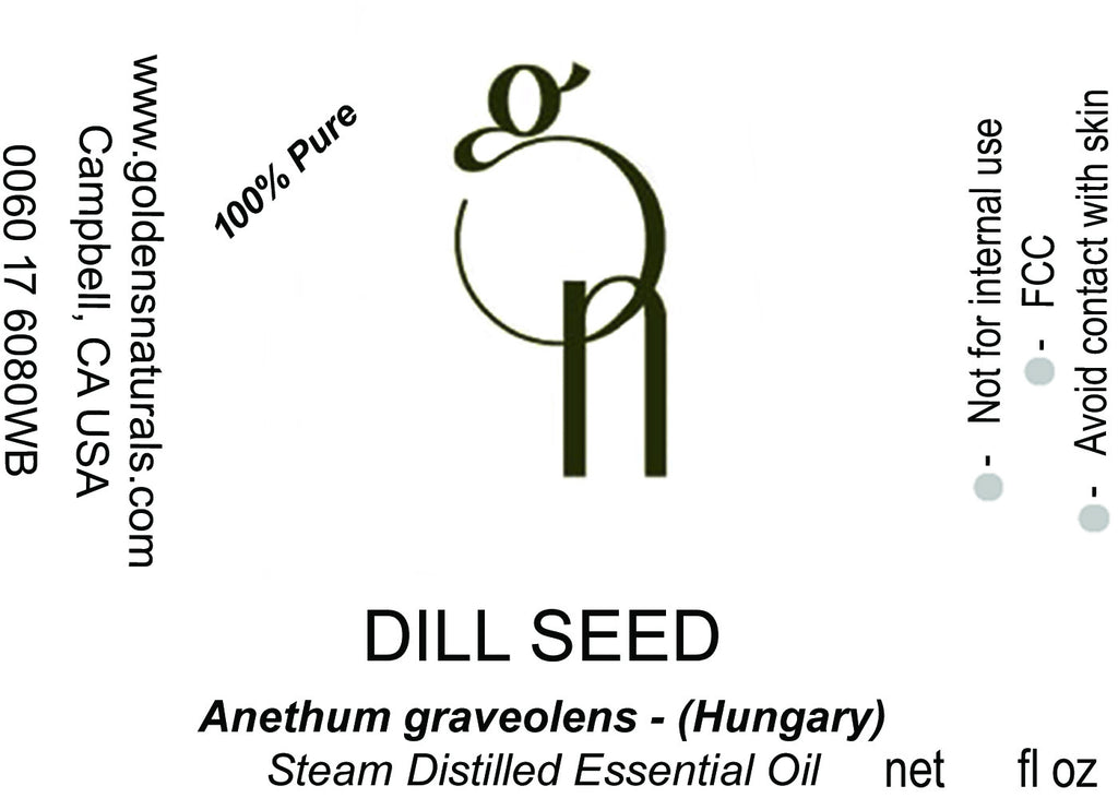Dill Seed Essential Oil - Wholesale/Bulk, Essential Oils, Golden's Naturals - Golden's Naturals = quality essential oils at affordable prices