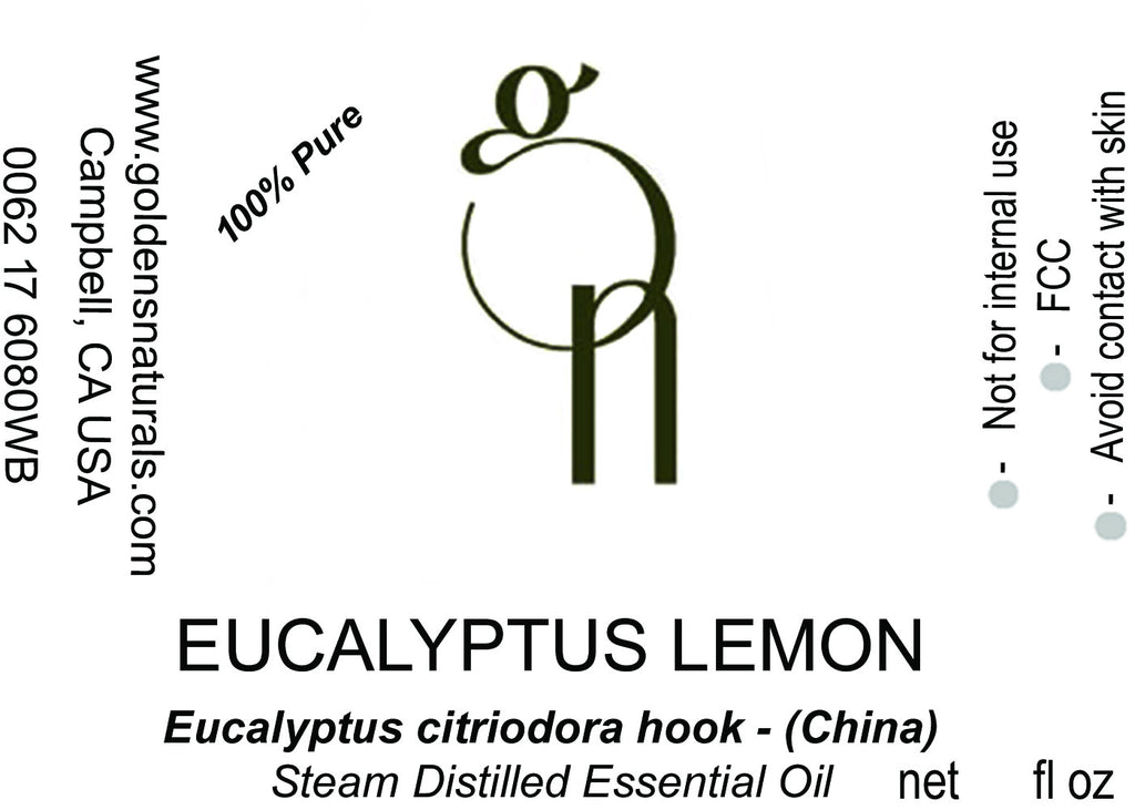 Eucalyptus Lemon Essential Oil - Wholesale/Bulk, Essential Oils, Golden's Naturals - Golden's Naturals = quality essential oils at affordable prices