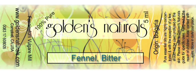 Fennel, Bitter Essential Oil, Essential Oils, Golden's Naturals - Golden's Naturals = quality essential oils at affordable prices