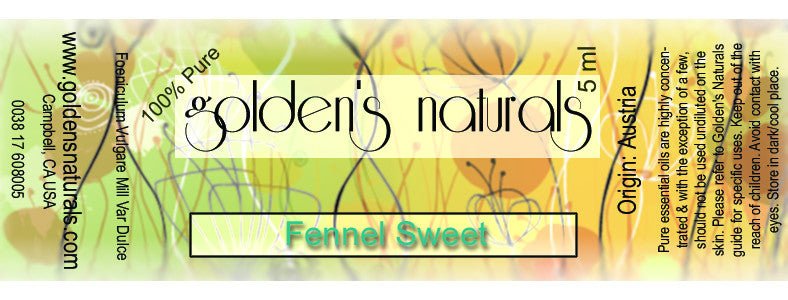 Fennel, Sweet Essential Oil, Essential Oils, Golden's Naturals - Golden's Naturals = quality essential oils at affordable prices