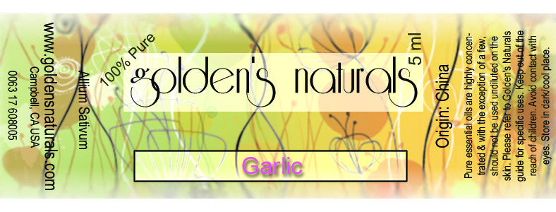 Garlic Essential Oil, Essential Oils, Golden's Naturals - Golden's Naturals = quality essential oils at affordable prices