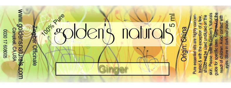 Ginger Essential Oil, Essential Oils, Golden's Naturals - Golden's Naturals = quality essential oils at affordable prices