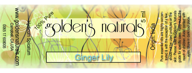 Ginger Lily Essential Oil, Essential Oils, Golden's Naturals - Golden's Naturals = quality essential oils at affordable prices