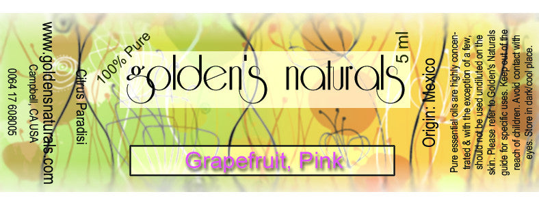 Grapefruit, Pink Essential Oil, Essential Oils, Golden's Naturals - Golden's Naturals = quality essential oils at affordable prices