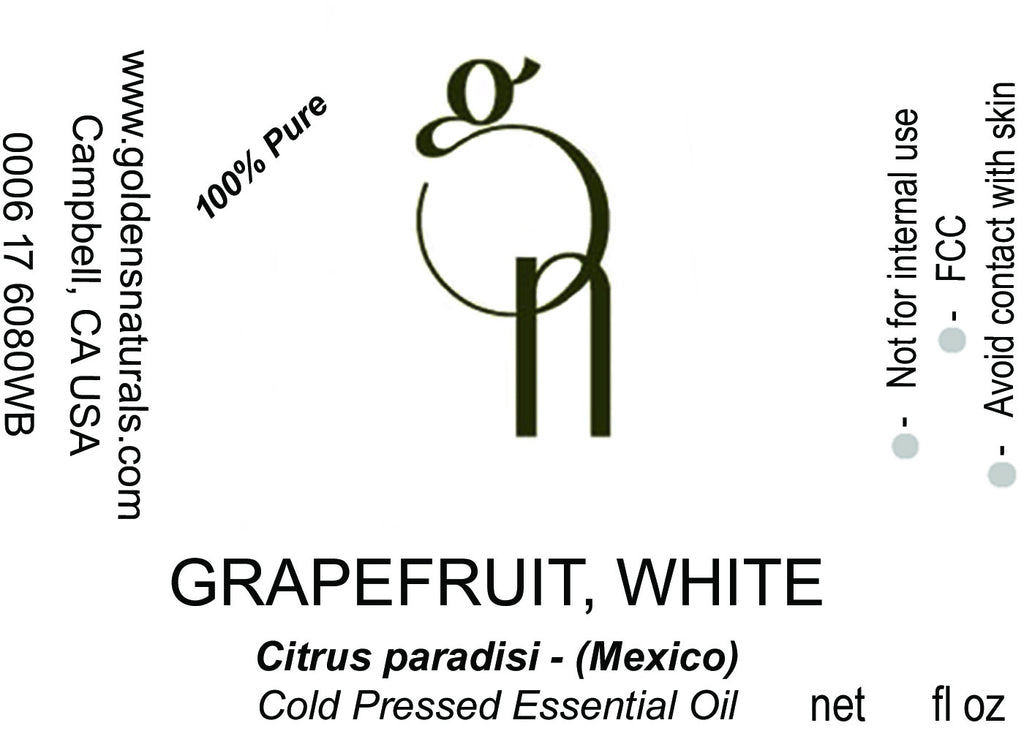 Grapefruit, White Essential Oil - Wholesale/Bulk, Essential Oils, Golden's Naturals - Golden's Naturals = quality essential oils at affordable prices