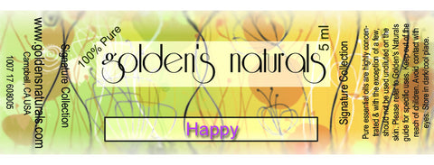 Happy Essential Oil Blend, Essential Oils, Golden's Naturals - Golden's Naturals = quality essential oils at affordable prices