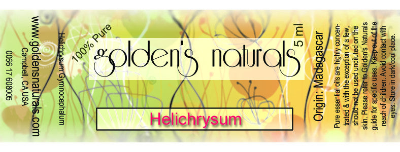 Helichrysum Essential Oil, Essential Oils, Golden's Naturals - Golden's Naturals = quality essential oils at affordable prices