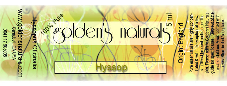 Hyssop Essential Oil, Essential Oils, Golden's Naturals - Golden's Naturals = quality essential oils at affordable prices