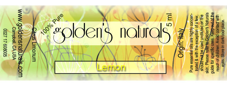 Lemon Essential Oil, Essential Oils, Golden's Naturals - Golden's Naturals = quality essential oils at affordable prices