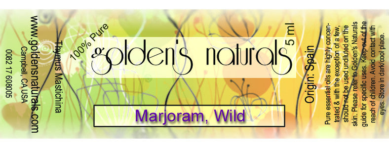 Marjoram, Wild Essential Oil, Essential Oils, Golden's Naturals - Golden's Naturals = quality essential oils at affordable prices