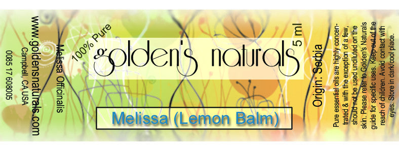 Melissa Essential Oil, Essential Oils, Golden's Naturals - Golden's Naturals = quality essential oils at affordable prices