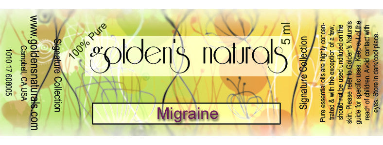 Migraine Essential Oil Blend, Essential Oils, Golden's Naturals - Golden's Naturals = quality essential oils at affordable prices
