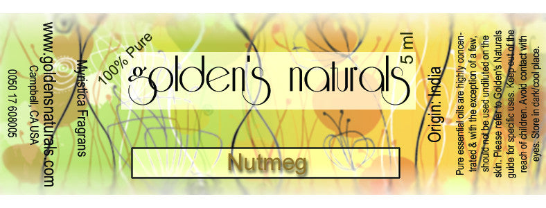 Nutmeg Essential Oil, Essential Oils, Golden's Naturals - Golden's Naturals = quality essential oils at affordable prices