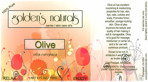 Olive Oil (Extra Virgin), Carrier Oil, Golden's Naturals - Golden's Naturals = quality essential oils at affordable prices