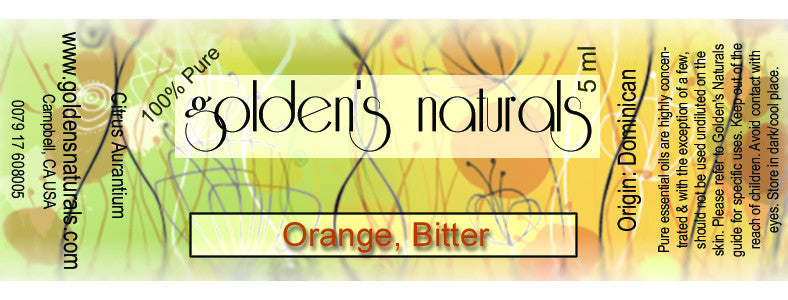 Orange, Bitter Essential Oil, Essential Oils, Golden's Naturals - Golden's Naturals = quality essential oils at affordable prices