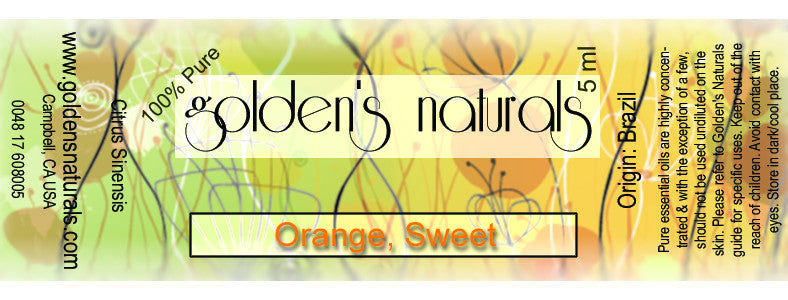 Orange, Sweet Essential Oil, Essential Oils, Golden's Naturals - Golden's Naturals = quality essential oils at affordable prices