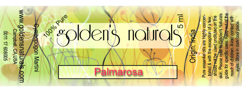 Palmarosa Essential Oil, Essential Oils, Golden's Naturals - Golden's Naturals = quality essential oils at affordable prices