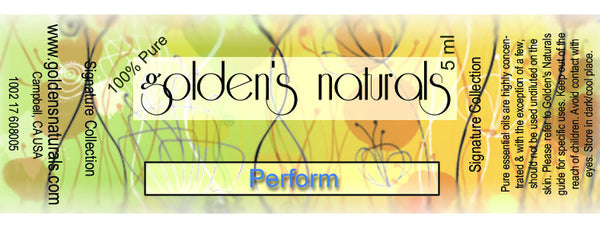 Perform Essential Oil Blend, Essential Oils, Golden's Naturals - Golden's Naturals = quality essential oils at affordable prices
