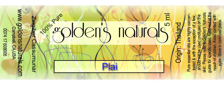 Plai Essential Oil, Essential Oils, Golden's Naturals - Golden's Naturals = quality essential oils at affordable prices