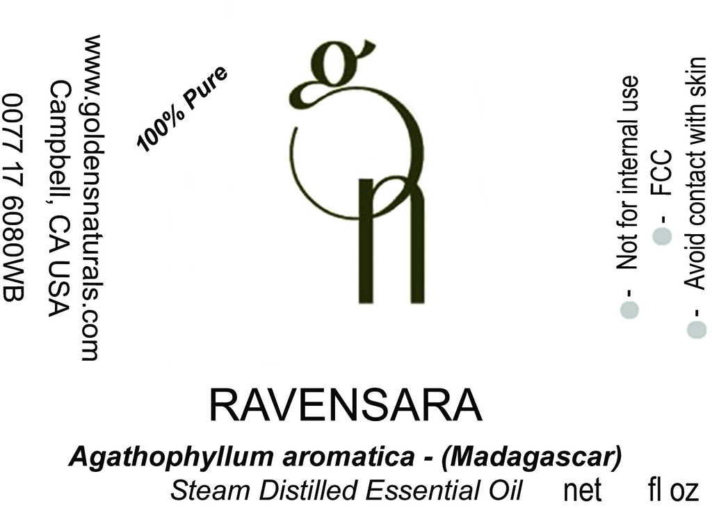 Ravensara Essential Oil - Wholesale/Bulk **ORGANIC**, Essential Oils, Golden's Naturals - Golden's Naturals = quality essential oils at affordable prices