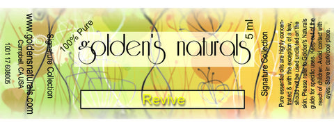 Revive Essential Oil Blend, Essential Oils, Golden's Naturals - Golden's Naturals = quality essential oils at affordable prices