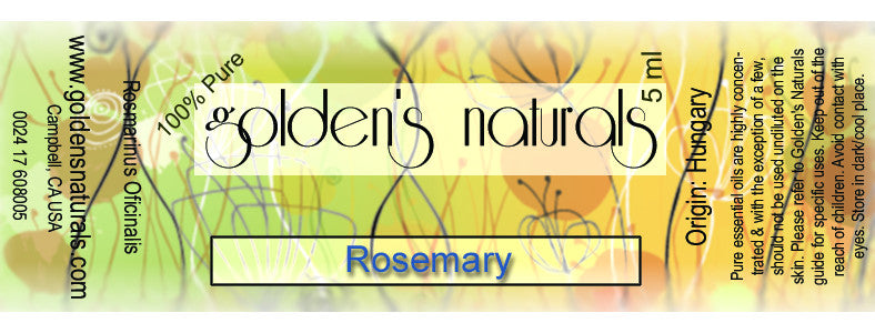 Rosemary Essential Oil, Essential Oils, Golden's Naturals - Golden's Naturals = quality essential oils at affordable prices