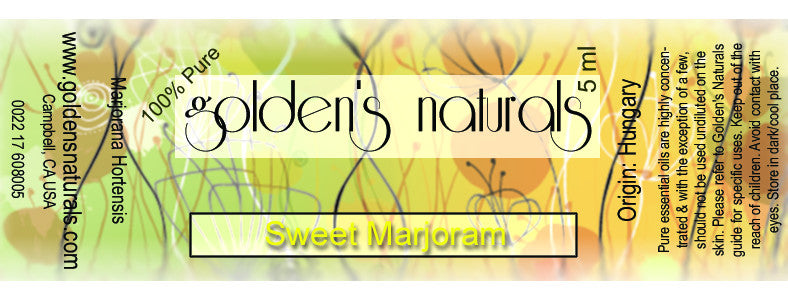 Marjoram, Sweet Essential Oil, Essential Oils, Golden's Naturals - Golden's Naturals = quality essential oils at affordable prices