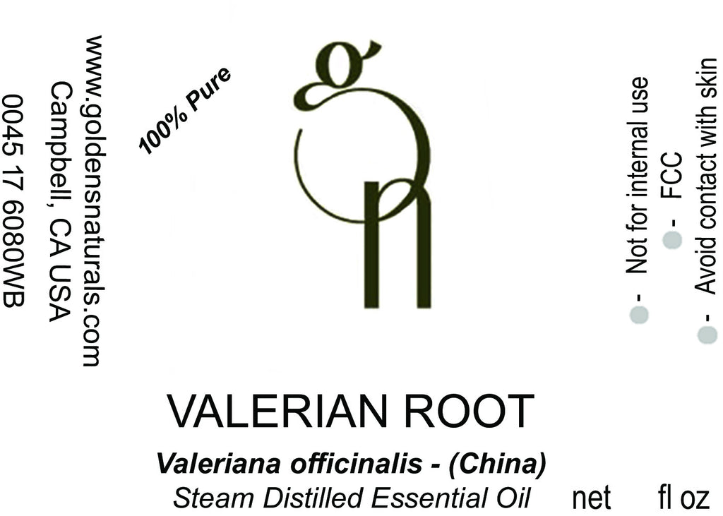 Valerian Root Essential Oil - Wholesale/Bulk, Essential Oils, Golden's Naturals - Golden's Naturals = quality essential oils at affordable prices